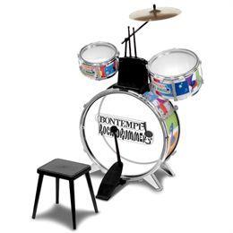 Trommesæt til børn inkl. stol og trommestikker Til den spirende rockmusiker