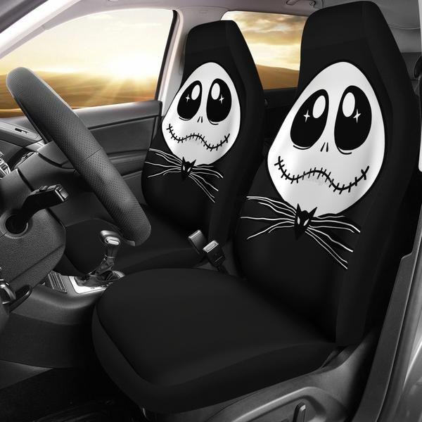 CUTE JACK SKELLINGTON SEAT CAR COVERS GET MORE DESIGN HERE