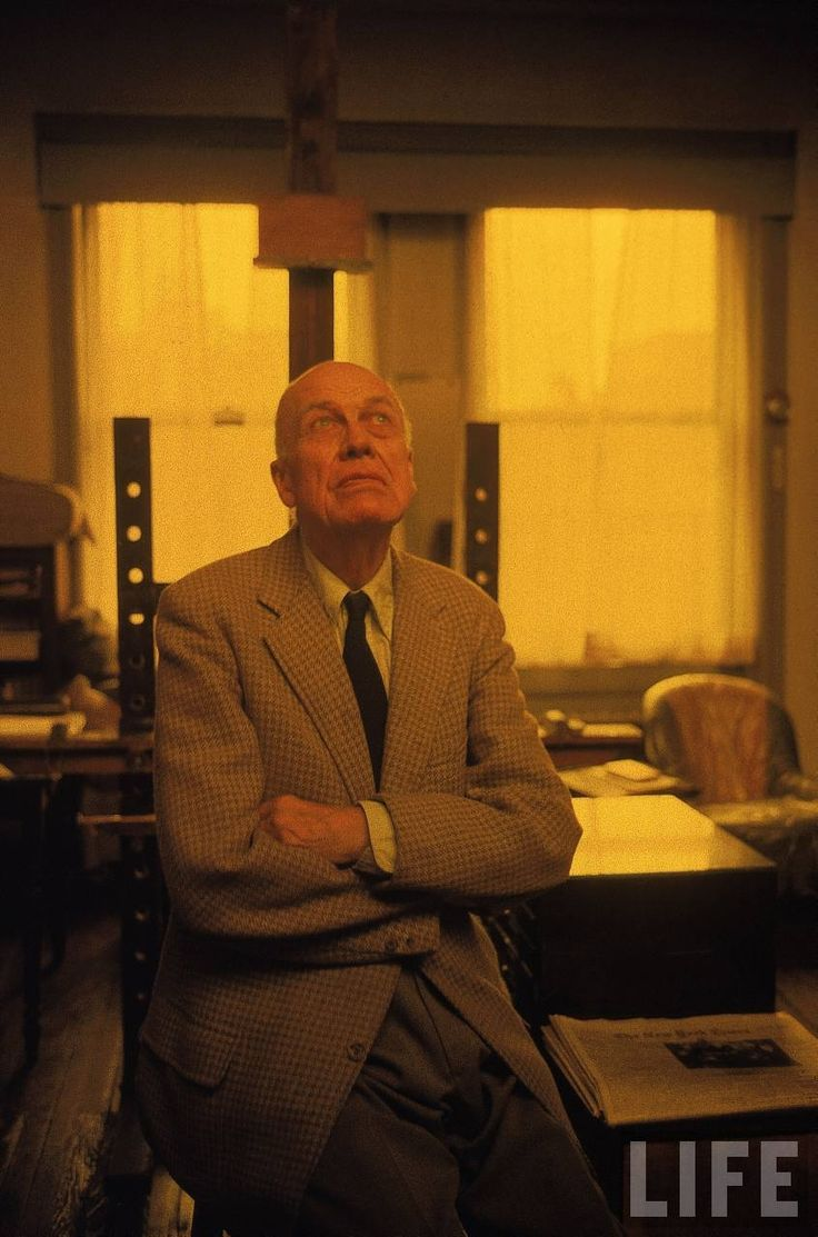 painter Edward Hopper in his studio