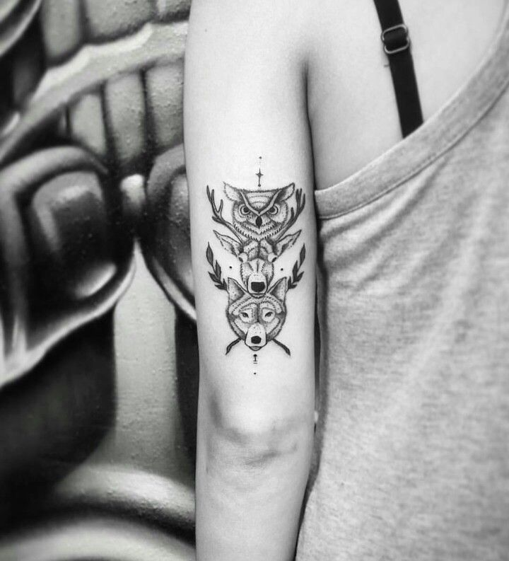 Animal totem #tattoo #blackwork