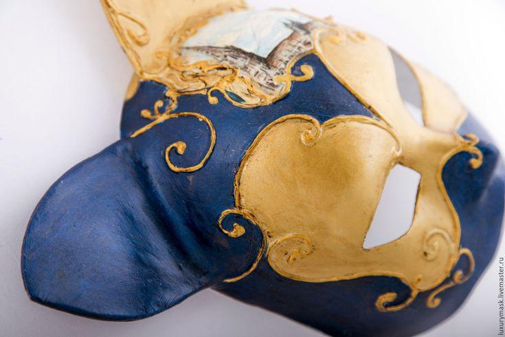 Купить Венецианская маска Bruno - тёмно-синий, карнавальная маска, венецианская маска, венеция, карнавал