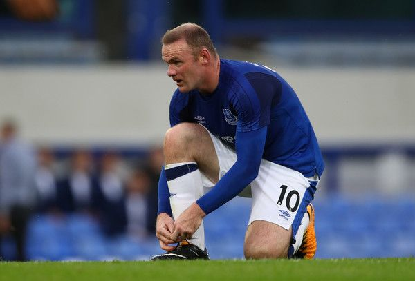 Wayne Rooney of Everton in action during the UEFA Europa League Third Qualifying Round, First Leg match between Everton and MFK Ruzomberok at Goodison Park on July 27, 2017 in Liverpool, England.