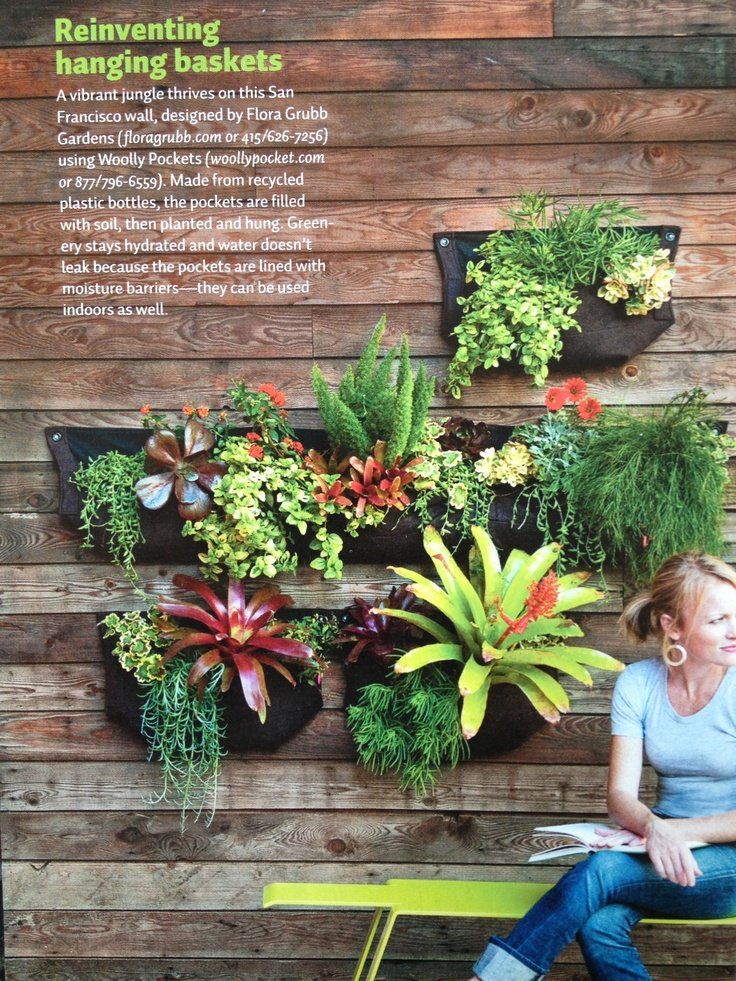 Delightful Woolly Pocket Wall Garden Try A Modern Take On Traditional Hanging Baskets  With A Wall Of These Woolly Pockets. Since Theyu0027re Lined With Moisture  Barriers, ...