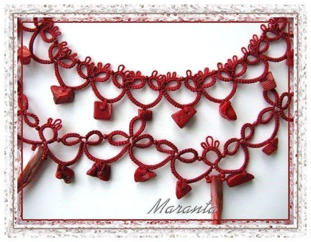 Frywolitki- biżuteria frywolitkowa w czerwieni - Anna Maranta - Picasa Web Album