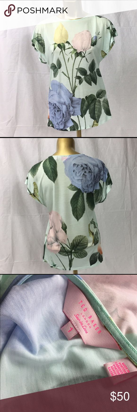 NWOT ted baker rose, mint green shirt Never worn, excellent condition( matching cardigan available) Ted Baker London Tops