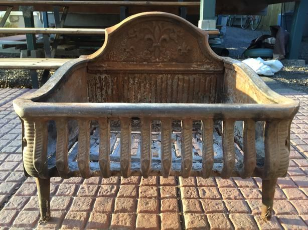 ANTIQUE FIREPLACE GRATE