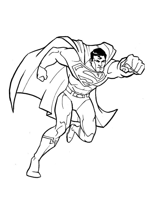 strongest superhero coloring page superman wallpaper - Super Heroes Coloring Pages