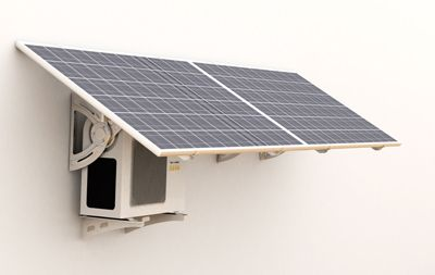 Solar powered air conditioner to reduce your energy consumption.