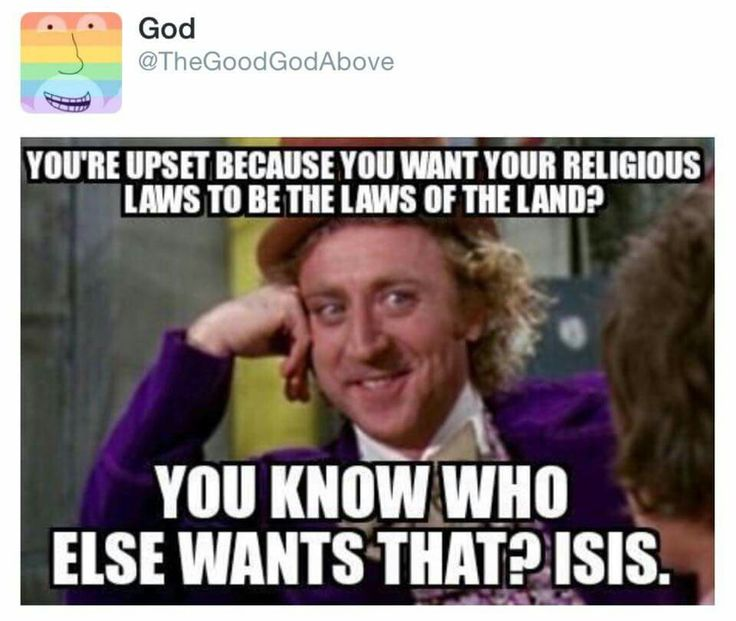 If you want your religion to be the law for all, you have that in common with ISIS.  People deserve to have their own beliefs and religion.