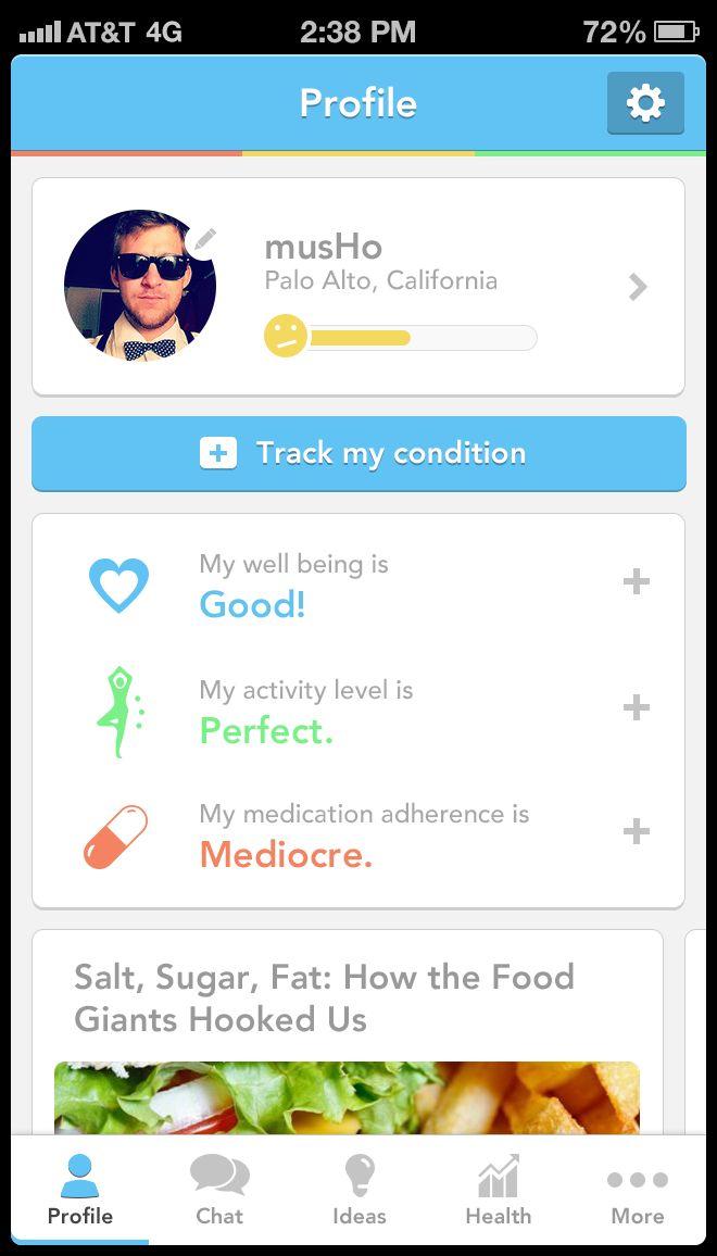 "Mobile App ""Flat"" UI Profile Page"
