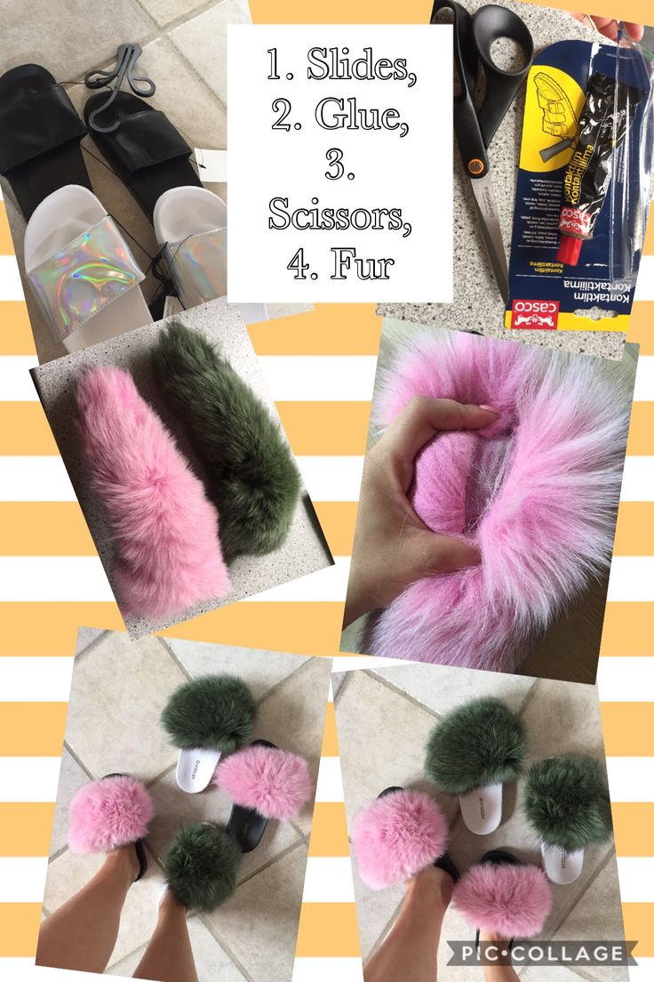 HOW TO MAKE YOUR OWN FUR SLIDES #slides #slippers #shoes #mules #furslides #furslippers #fox #foxfur #diy #handmade #homemade #byheleneo #furslidesdiy