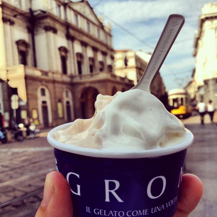 Alcune delle mie cose preferite a Milano: GROM e La Scala