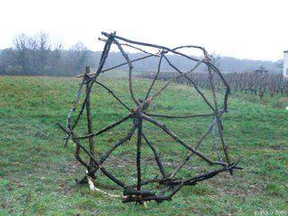 Land Art - Icosaedre, - Pontlevoy (FRANCE)