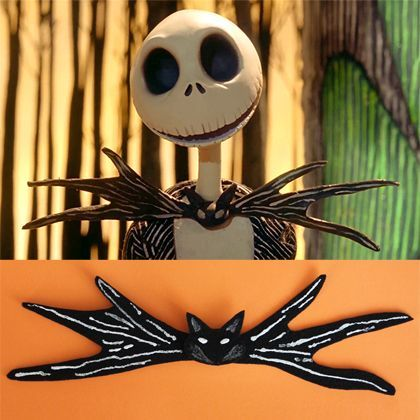 Want to look like Halloween Town's most stylish resident? Just put a bat on it! This easy craft will have you cackling in Jack Skellington style in no time.