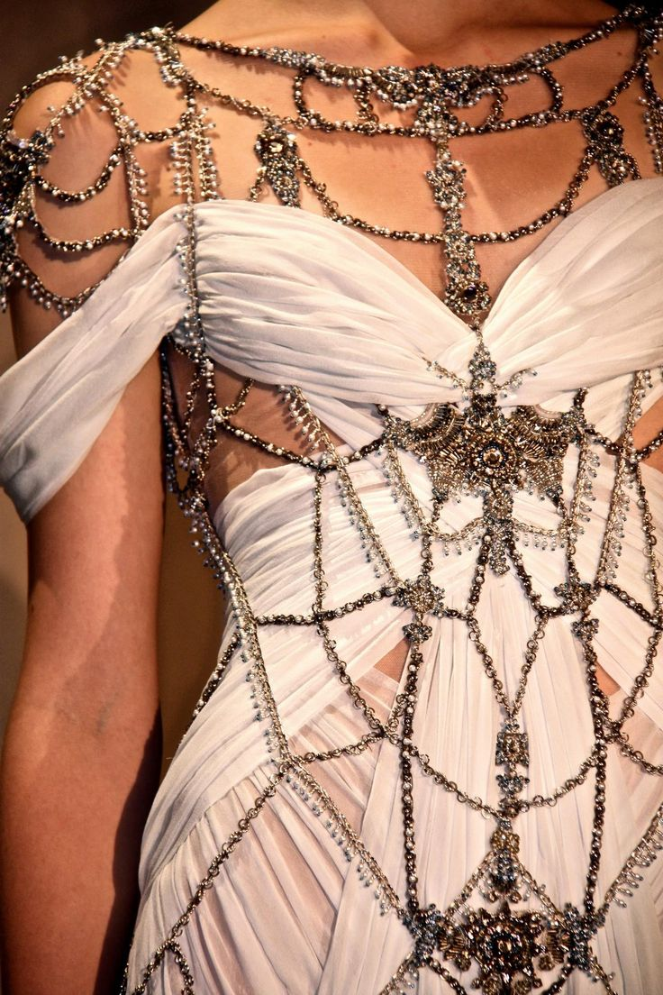Draped Jeweled Gown | Marchesa