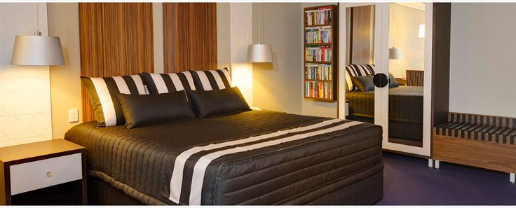 Commercial Interior Design, Commercial Design & Planning - Di Henshall Interior Design. Cap-top, Bel-air Hotel Cushions and Siam Black Picket Quilted Bed Valance by HotelHome Australia.