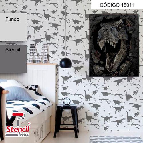 Jurassic – Stencil Decorativo (molde para pintura)