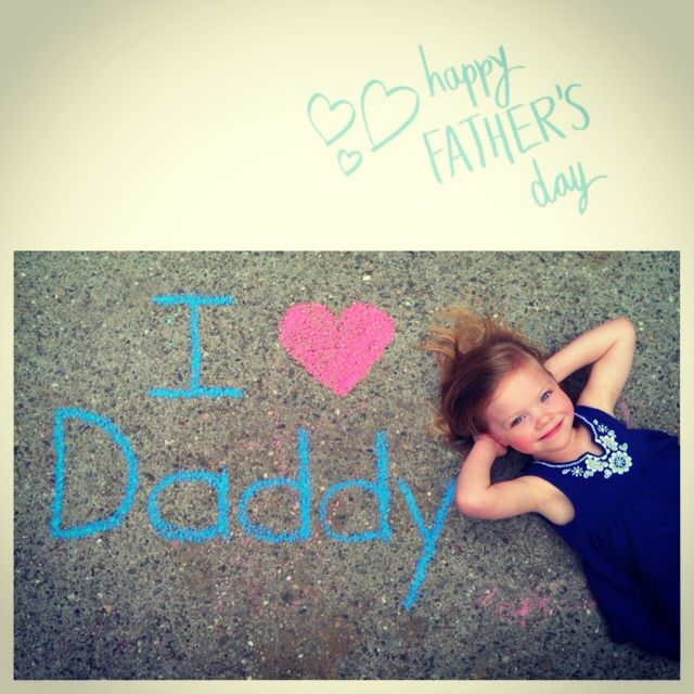 Kennedy's Father's Day picture for her daddy.