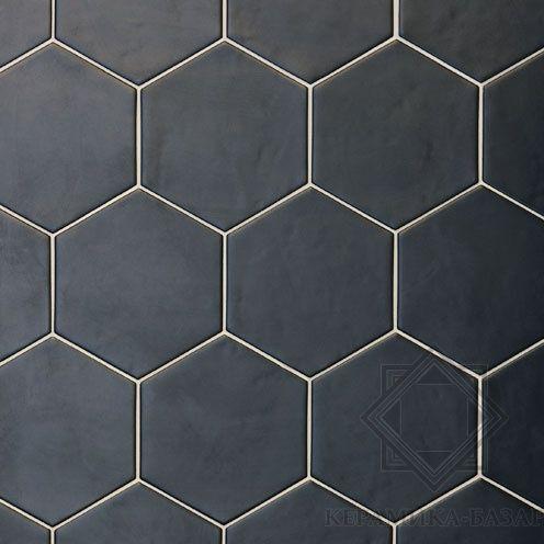 Hexatile Negro Mate. Напольная плитка (17,5x20)