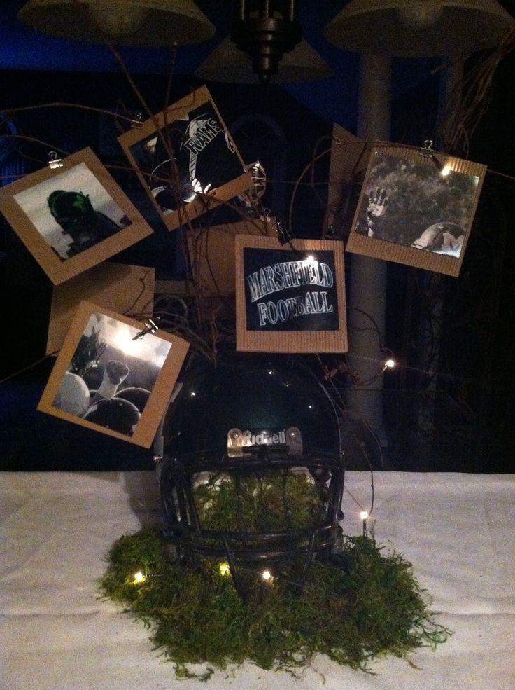 Lacrosse Centerpieces | Classy football banquet centerpiece