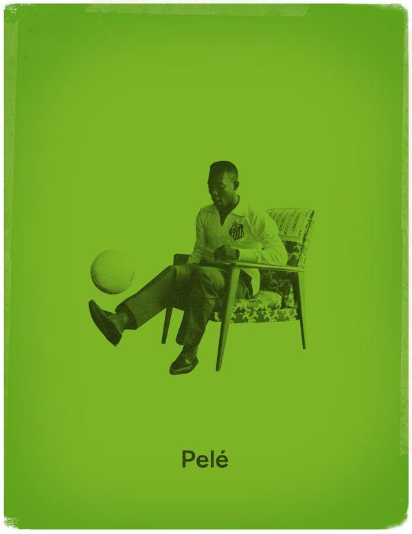 Famous Footballers by Jon Rogers, via Behance  #soccer #poster #pele