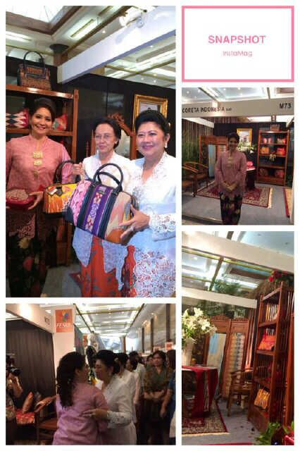 Mrs. Ani Susilo Bambang Yudhoyono with Coreta bags