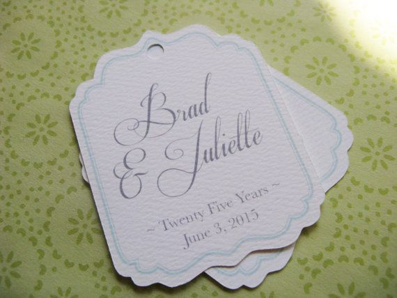 Personalized Tags for Favors Wedding Shower by SandpiperPress, $10.00