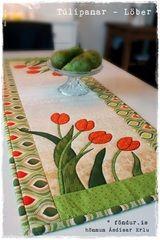 Lobe - Tulip lobes - 40 x 105 cm  Looks like spring quilt  #quilting