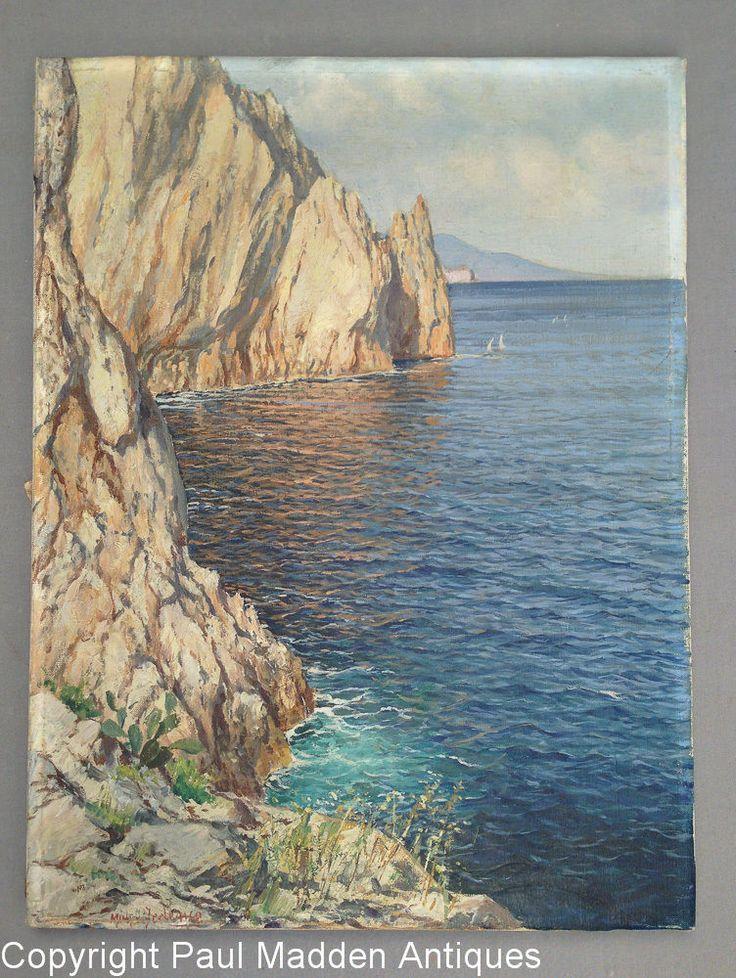 Oil Painting of Capri by Italian Artist Michele Federico (1884 - 1966) | Art, Paintings | eBay!