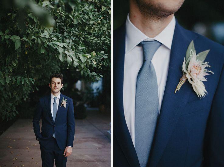 Navy suit fall wedding