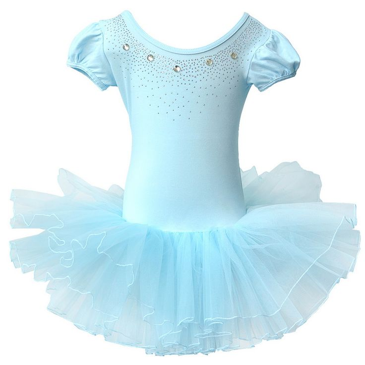 Tutu Ballet Dress for Children 4-14Y Girls Leotard Dress Ballet Tutu Vestido Gymnastics Dance Suit Short-Sleeve Kids One-Piece