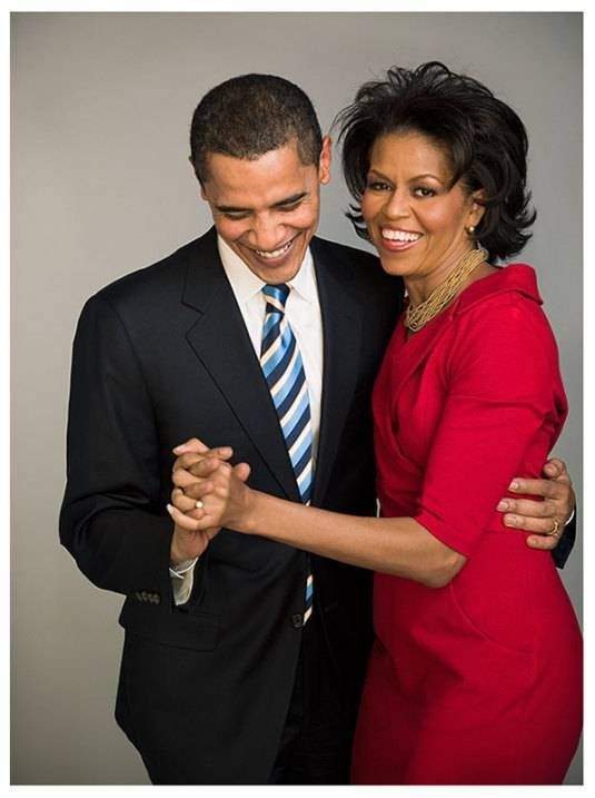 President Obama with his lovely wife, Michelle - who should run for president in 2016!
