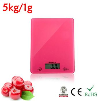 New 2013 11LB 5000g/1g 5KG Kitchen Scale Digital Electronic Food Scales  VKS303 Red
