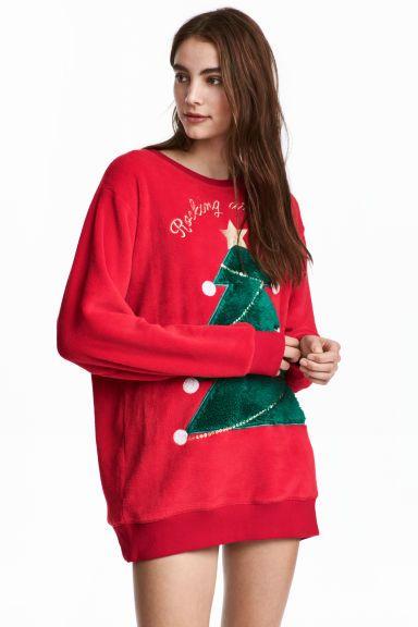 99.90zł rozmiar M; Polarowa bluza - Czerwony - ONA | H&M PL 1