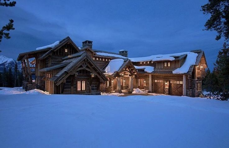 Elk Ridge Lodge Constructed By Teton Heritage Builders And Designed Centre Sky Architecture Ltd