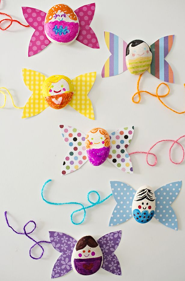 Make Magical DIY Paper and Rock Fairies. Cute rock craft for kids.