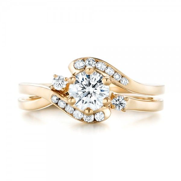 Custom Interlocking Diamond Engagement Ring