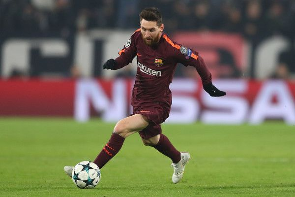 Lionel Messi of Barcelona during the UEFA Champions League group D match between Juventus and FC Barcelona at Juventus Stadium on November 22, 2017 in Turin, Italy.