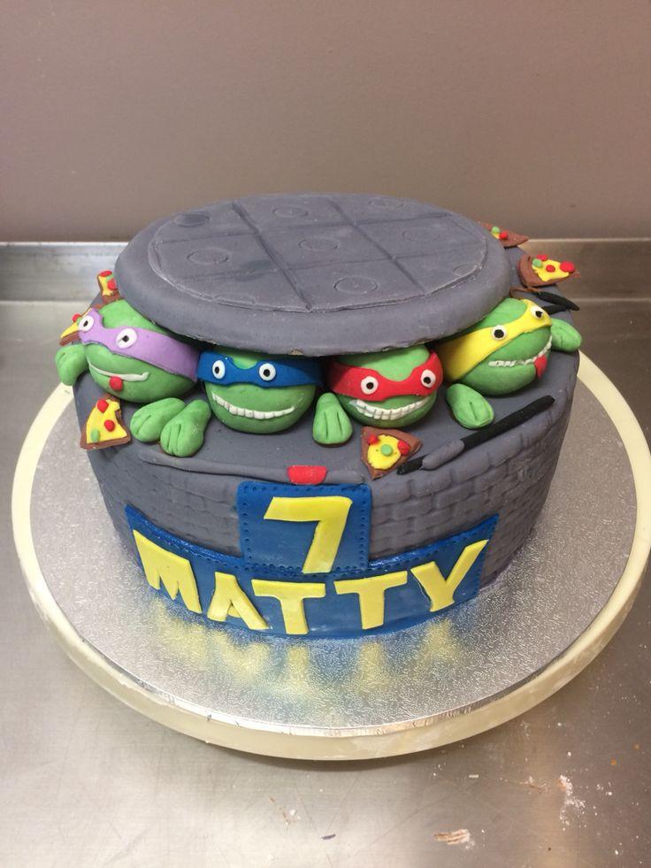 Teenage mutant ninja turtles. Cowabunga. Vanilla butter cake