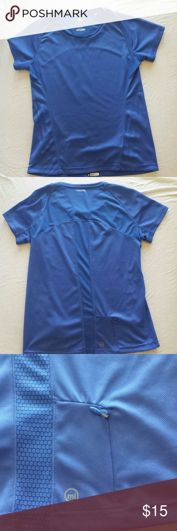 Adidas Supernova Running Top Adidas running top. Small zippered pocket, about the size of an ID/CC, located on the lower back side. adidas Tops