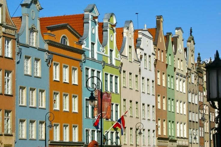 Kleurrijke huizen van Dlugi Targ - - Lange Markt. , Gdansk Door: Magdalena