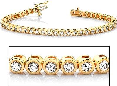 Pave set Diamond Tennis Bracelet