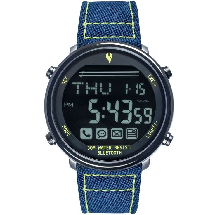 Waterproof Bluetooth Wrist Smart Watch Phone and messege remind For Smartphone Outdoor Sports Pedometer Stopwatch (Black Edition + Blue Nylon Band). Call / SMS / E-mail / Event reminder: Instant information, real time inform you, you can take control of everything. 316L stainless steel processed, it must be better than stainless steel. Benefit; 1) cold-rolled product appearance, good gloss, beautiful; 2) the addition of Mo, corrosion resistance, particularly excellent pitting resistance…