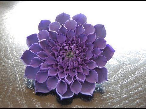 Tutorial Fiori in Pasta Zucchero ,Gumpaste Dahlia Flower - YouTube