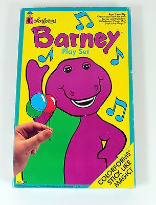 Inspirational Barney Coloring Book 98 Colorforms Barney the Purple