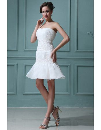 67fb5a24e1 Find discount custom mermaid organza short beach wedding dresses for summer