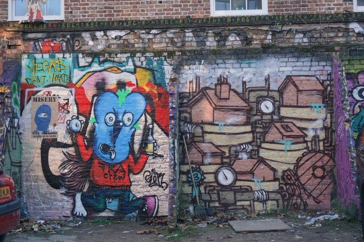 Londen, London, UK, graffiti, art