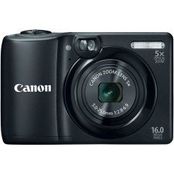 The Canon 6178B100 PowerShot A1300 16MP Compact Digital Camera, in black, is comfortable to use and comfortably affordable. Its Optical Viewfinder offers a pleasantly classic feel that's great for shooting in strong sun light and ideal for use when your battery power is running low. Image quality is excellent and automatic with Smart AUTO that recognizes 32 predefined shooting situations and selec
