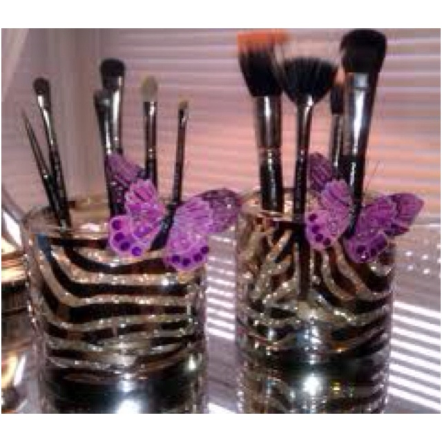 brush holder beads. diy makeup brush holder using bath and body works candle jars their jar holders beads