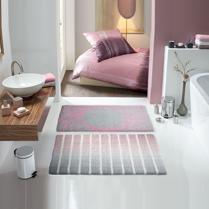 17 best images about bathroom decor ideas on pinterest for Pink grey bathroom accessories